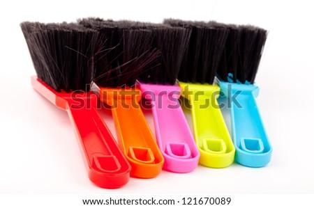 colorful brush set