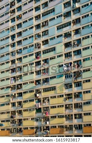 Colorful building facade, residential facade