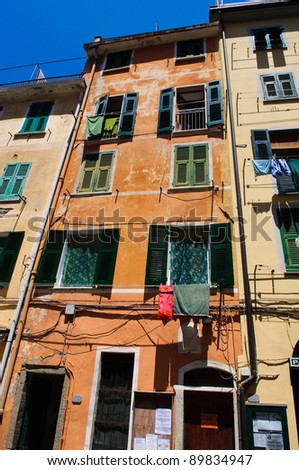 Colorful Building in Cinque Terre Italy