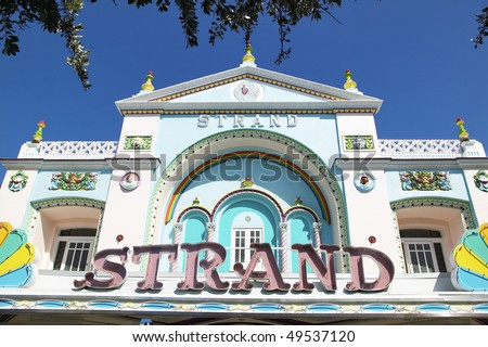 Colorful building in Key West, Florida, USA