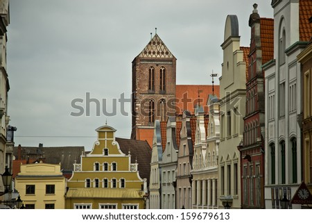 colorful building in Wismar, North eastern Germany