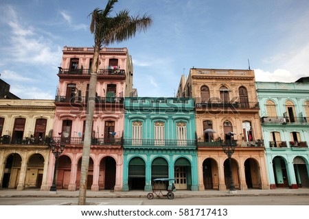colorful buildings and historic ...