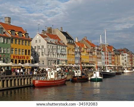 colorful buildings at nyhavn harbor in copenhagen