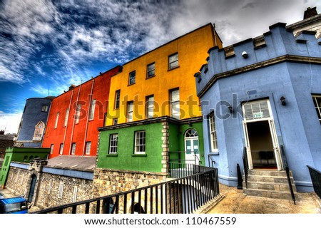 colorful buildings   dublin...