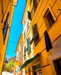 Colorful buildings in Monterosso in Cinque Terre, Italy