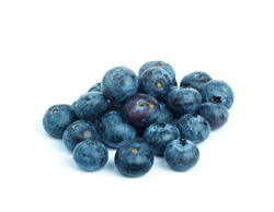 Colorful bunches of blue berries or blueberries are naturally nutritious and fresh.