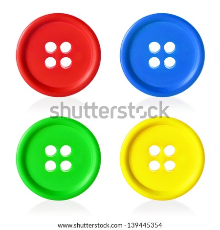 Colorful buttons frame, isolated on white background