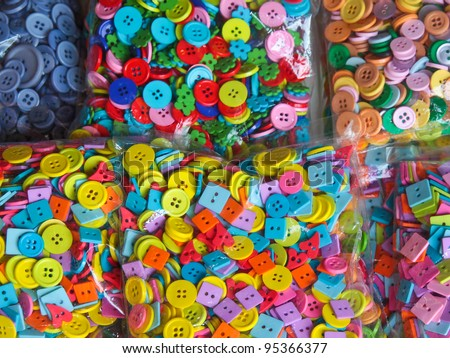 colorful buttons in pack