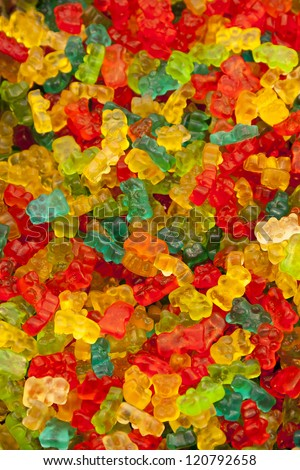 Colorful candies bear