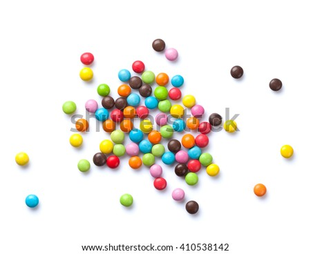 Colorful candies. Isolated on white background