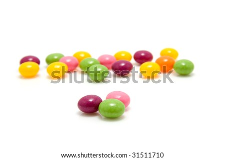 colorful candy isolated on white background