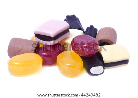 colorful candy isolated over white
