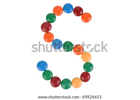 Colorful Candy Letter S