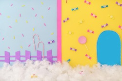 Colorful candy photographic backdrop background