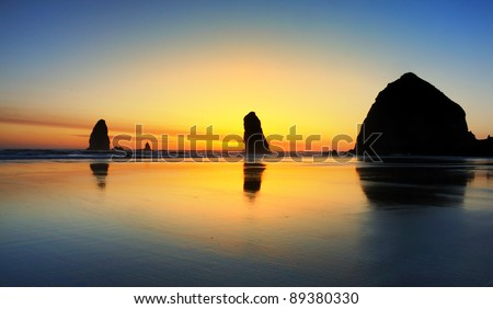 Colorful  Cannon Beach Sunset
