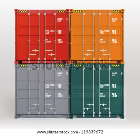 colorful cargo containers pattern