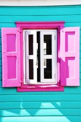 Colorful Caribbean window