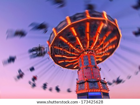 colorful carousel in motion...