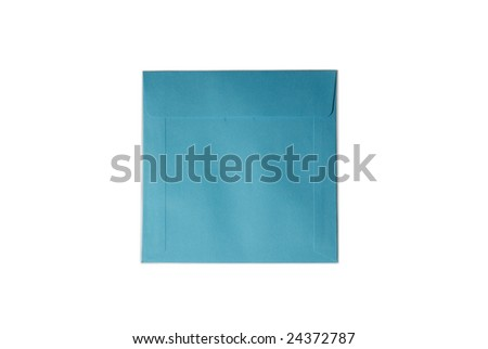 colorful cd envelop isolated on white background
