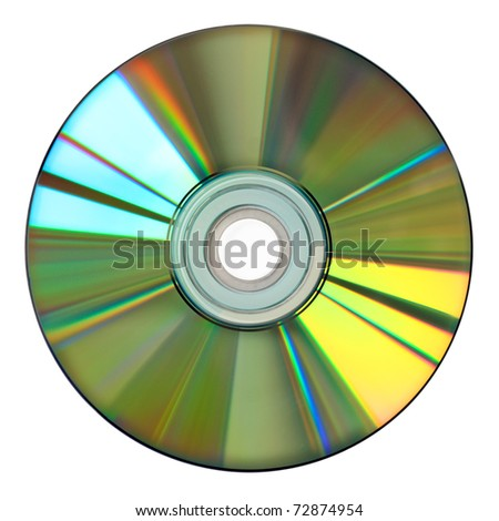 colorful cd isolated on white