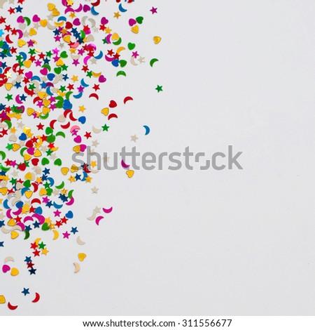 Colorful celebration confetti background   #311556677