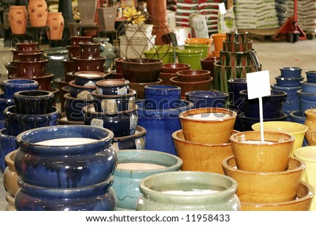 Colorful Ceramic Flower Pots For Sale Stock Photo 11958433 Shutterstock