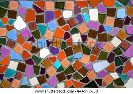 colorful ceramic tile patterns background. #444597658