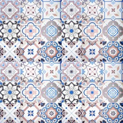 Colorful ceramic tiles wall and floor decoration.