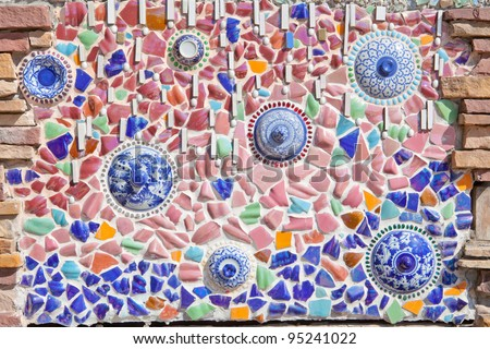 Colorful Ceramic wall pattern as Background