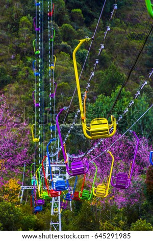 Shutterstock Colorful Chairlift Campos do Jordao teleferico