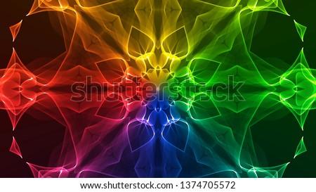 Colorful Chakra Mandala 01 #1374705572