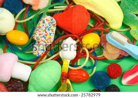colorful chewing bonbons