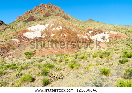 colorful Chicos Mountain range in Big Bend National Park