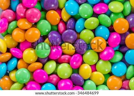 Colorful chocolate candy for backgrounds - stock photo