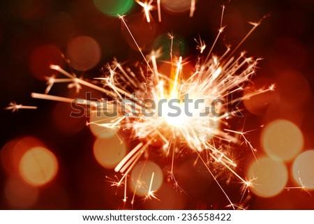 colorful christmas sparkler #236558422
