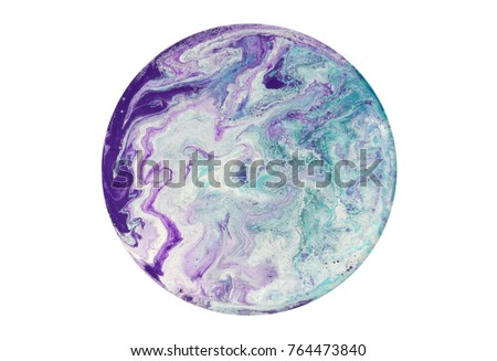 Colorful circle blots. Abstract background. Marble texture. Acrylic colors. #764473840