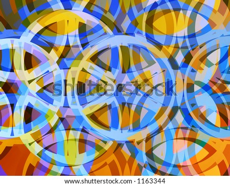 Colorful circle design pattern. - stock photo