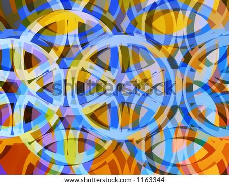 Colorful circle design pattern.