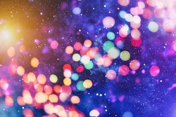 Colorful circles of light abstract background