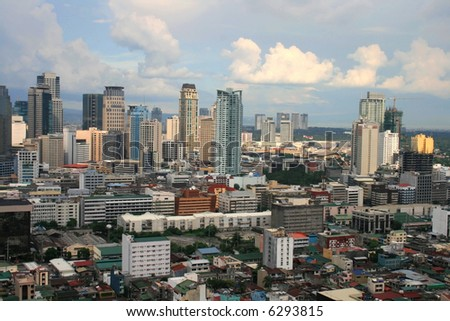 colorful cityscape at makati business area
