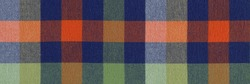 Colorful classic plaid fabric, background pattern geometric abstract design, gingham texture