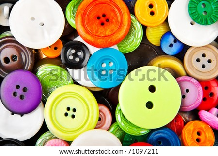 colorful clothing buttons