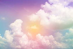 Colorful Cloud and sky abstract background
