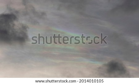 Colorful cloud iridescence or irisation in the sky Photo stock ©