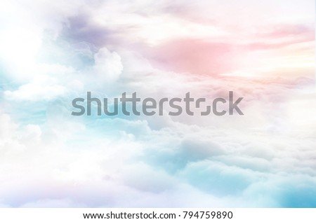 colorful clouds dreamy sky background