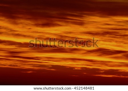 Colorful clouds on the sky
