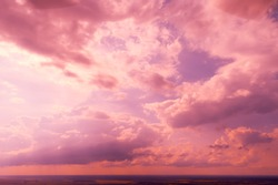 Colorful cloudy sky at sunset Sky texture, abstract nature background