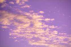 Colorful cloudy sky at sunset. Sky texture, abstract nature background