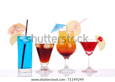 Colorful cocktails collection