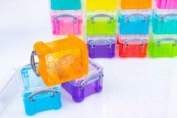 Colorful color box with many colors